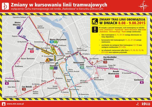 Zmiany tramwajowe 8-9 sierpnia ZTM