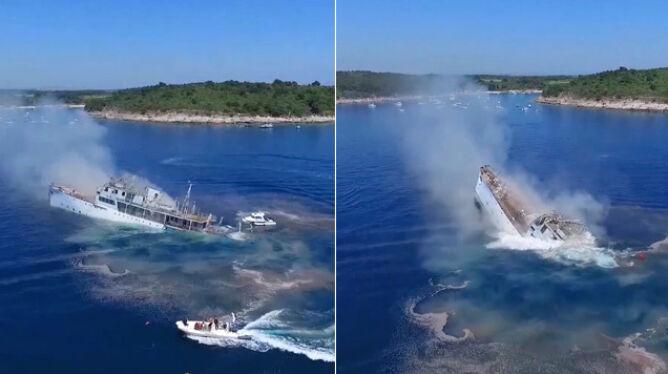 60-letni okręt zatopiony w morzu. <br />Będzie atrakcją dla płetwonurków