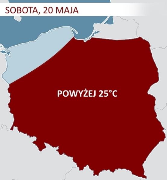 Gorące powietrze nad Polską w sobotę