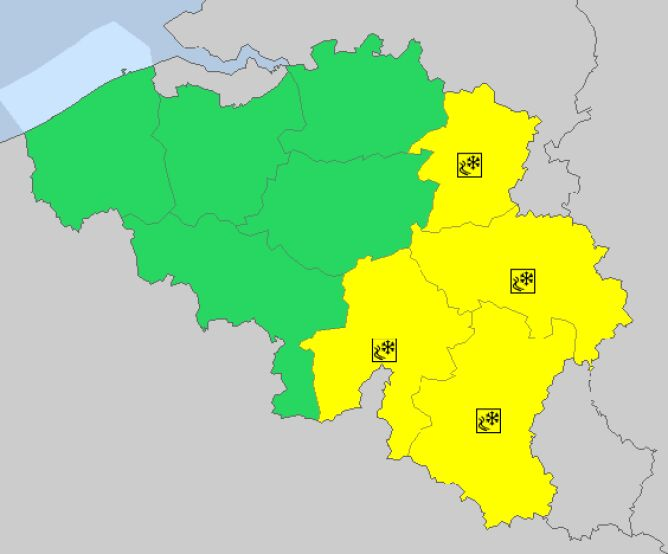 Ostrzeżenia meteorologiczne w Belgii (meteoalarm)
