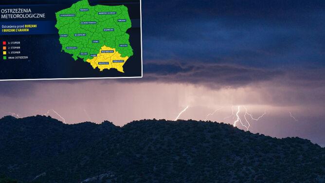 Front okluzji przyniesie burze. <br />Alerty na południu Polski