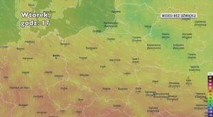 Prognozowana temperatura na kolejne dni (Ventusky.com)
