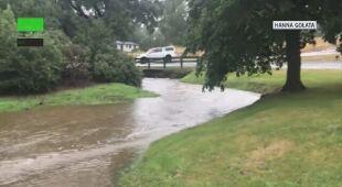 Miejscami poziom wody sięgnął metra
