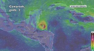 Prognozowane porywy wiatru Nany