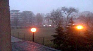Częstochowa: burza w styczniu (Kontakt 24/Rafał Łaptos)